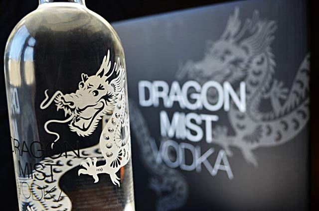 Dragon Mist Vodka bottle and case packaging