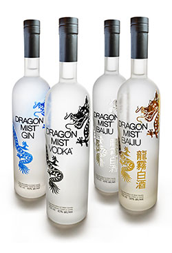 Craft distilled vodka, gin, and baijiu from Dragon Mist Distillery in Surrey, BC, near Vancouver