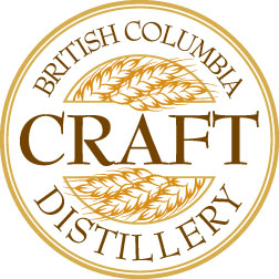 The BC Craft Distillery certification seal for Dragon Mist Distillery products