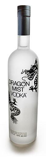 Dragon Mist Vodka made with Dawson Creek wheat and pure Canadian glacial water. That's all.