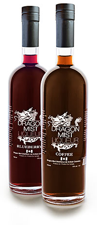 Dragon Mist coffee and blueberry liqueurs
