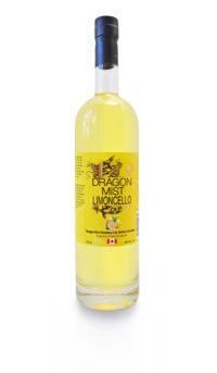 Dragon Mist Limoncello liqueur made from fresh lemons, Dragon Mist Vodka, and sugar — that's all