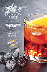 Free 20 page book of original cocktail recipes from Dragon Mist Distillery